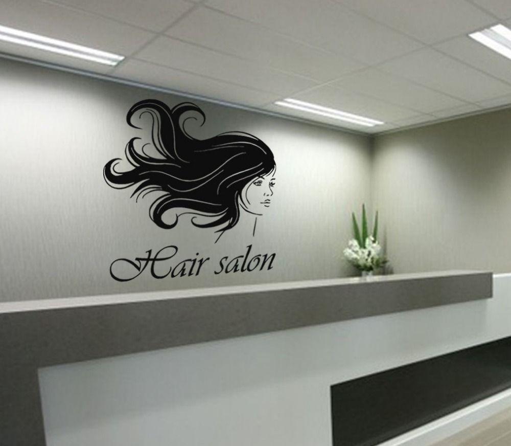 Salon sticker decal hair barber shop posters vinyl wall art decals