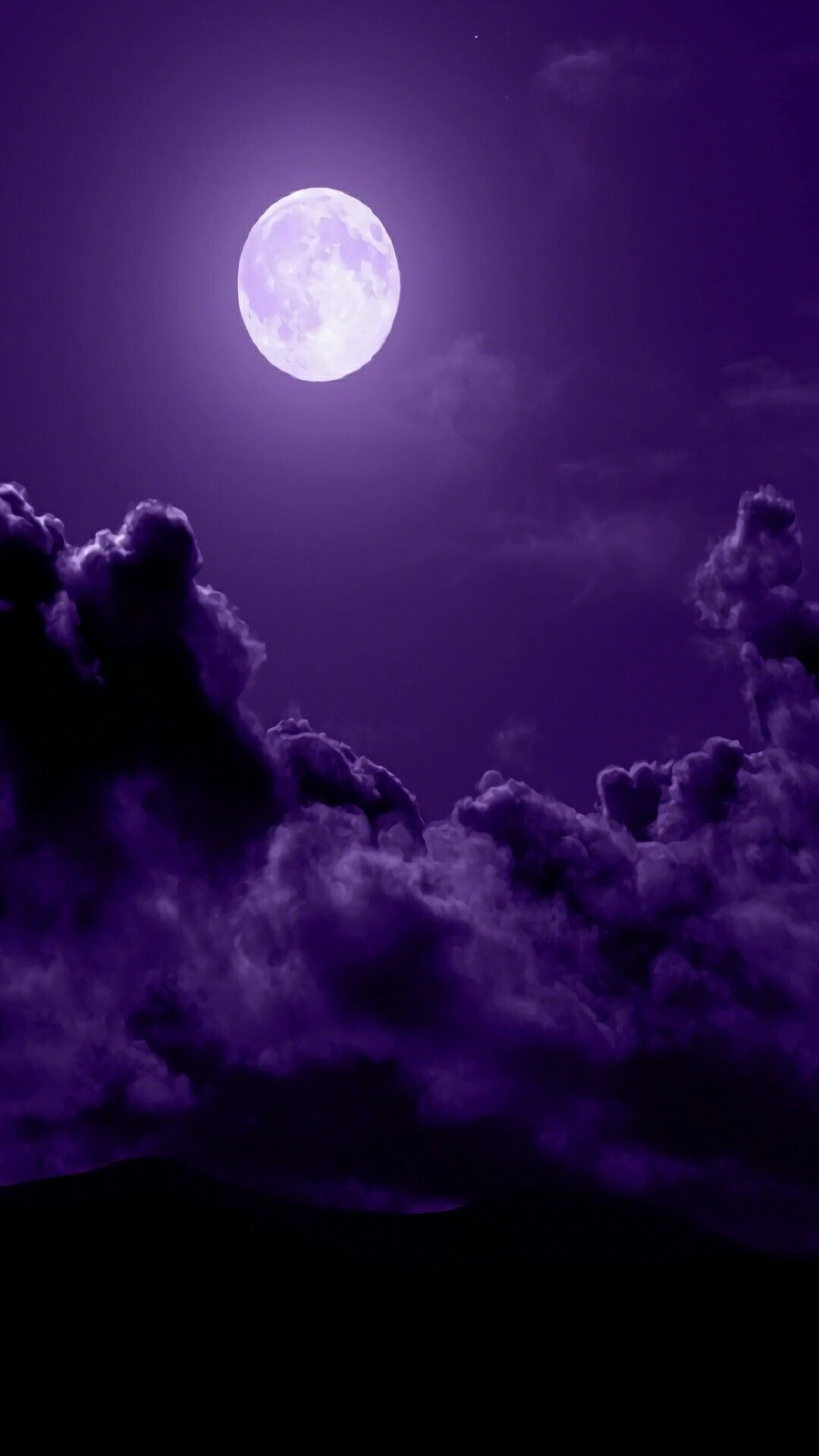 Dark purple sky with clouds and white moon - Dark purple sky with clouds and white moon Source ...
