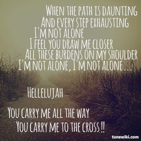 Lyricart For Carry Me To The Cross By Kutless Worship Lyrics