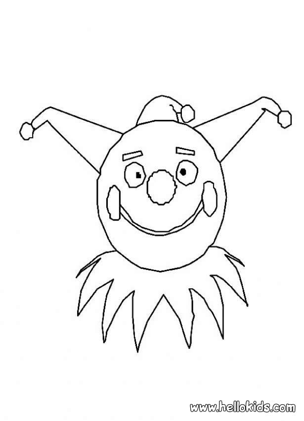 Clown Coloring Mask Pages 2020 My Best Coloring Pages