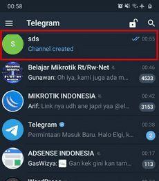 cara menghapus channel telegram di hp