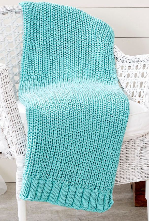 Easy Afghan Knitting Patterns Knitting Blanket Pinterest