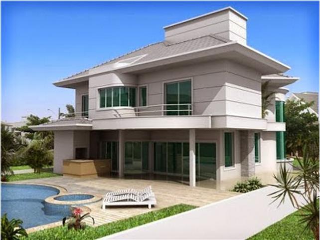 30 fachadas de casas modernas e cinza a cor do momento for Casas modernas pintadas