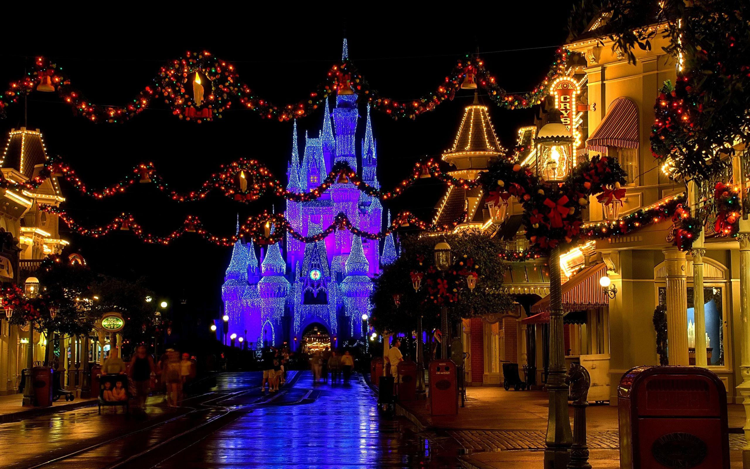 Christmas Computer Wallpapers Desktop Backgrounds 2560x1600 Id 301433 Disney World Christmas Disneyland Christmas Disney Christmas