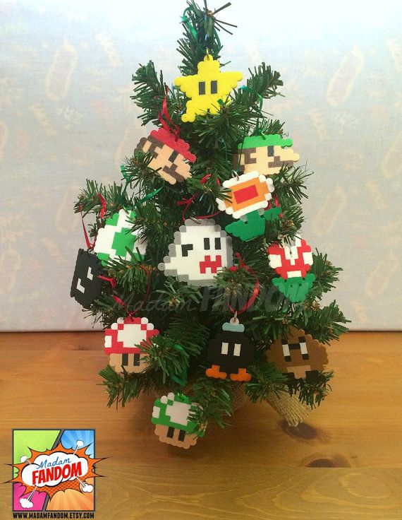 Super Mario Christmas Ornaments Set of 12 | Super Mario Christmas