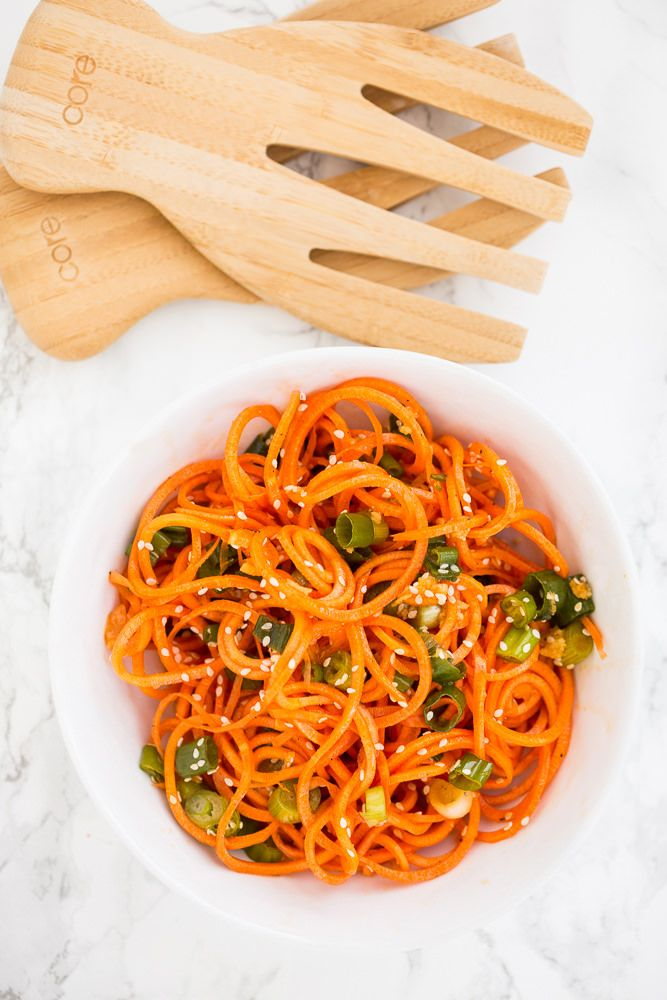 Asian Sesame Spiralized Carrots