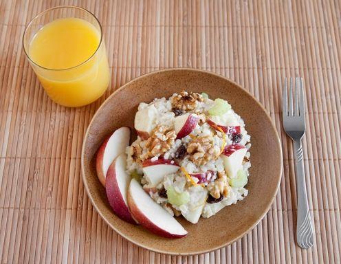 Dinkel-Reissalat mit Curry und Früchten - Rezept - ichkoche.at