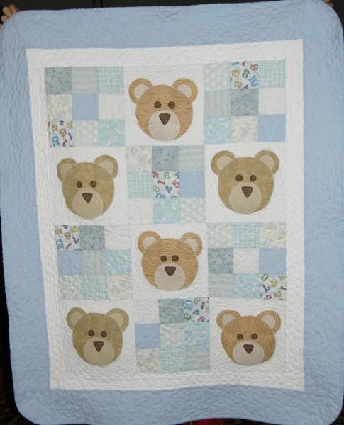Baby Quilt Idea Could Use Another Little Animal Baby