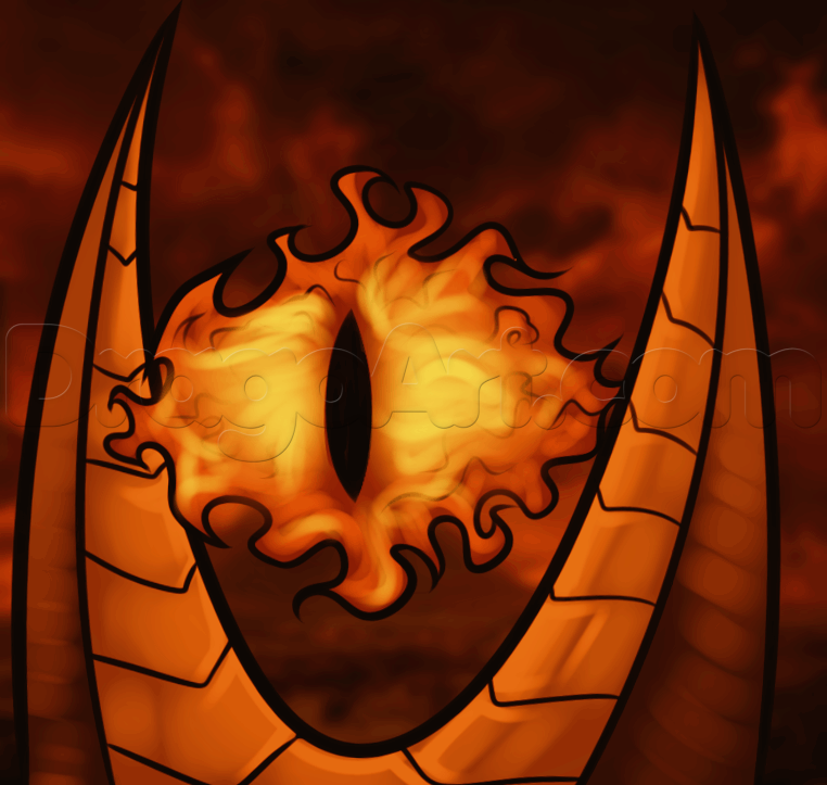 How To Draw The Eye Of Sauron Guided Drawing Draw Drawings