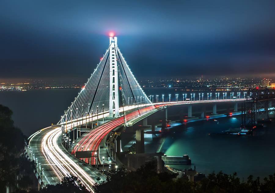 Bay Bridge Night.