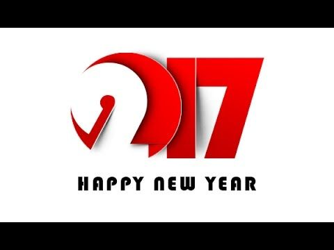 photoshop create new year greeting card 2017