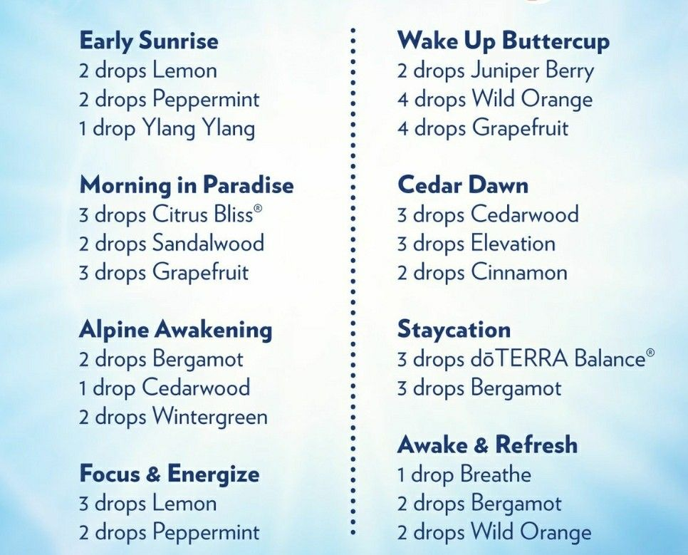 Do you have trouble getting up & getting going in the mornings? Try one of these morning diffuser blends to give you that extra boost!