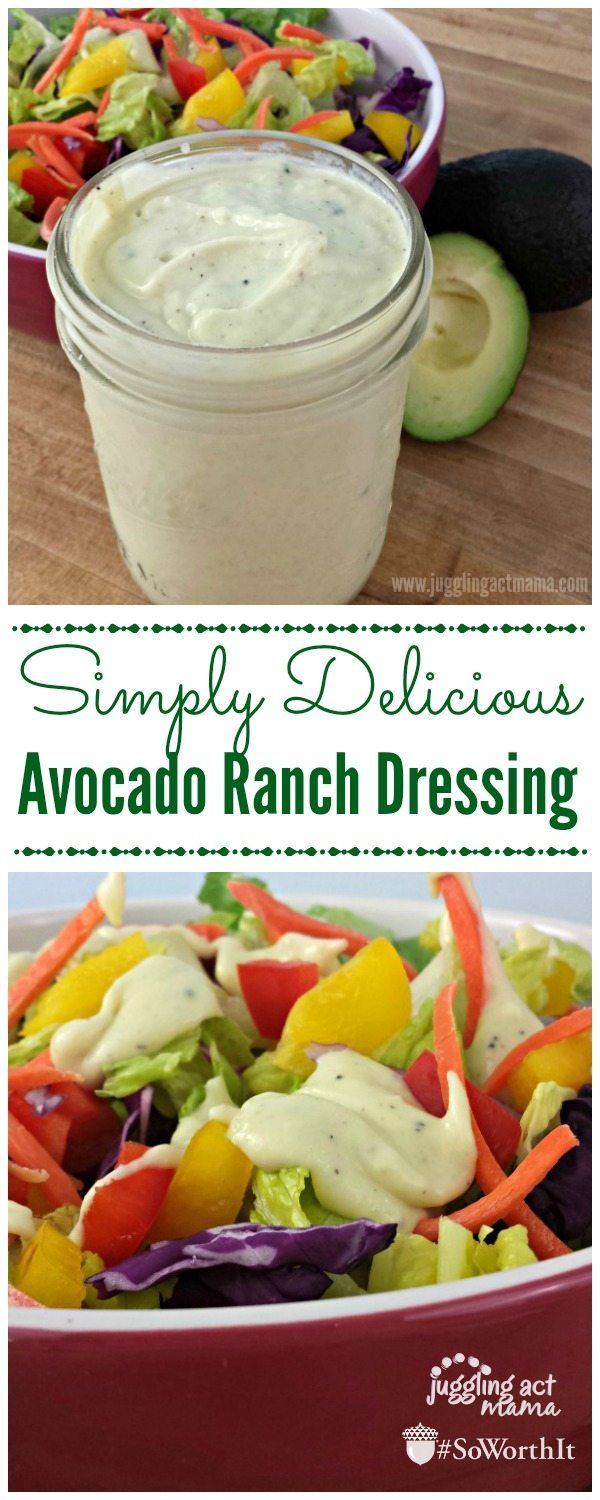 Avocado Ranch Dressing - Juggling Act Mama