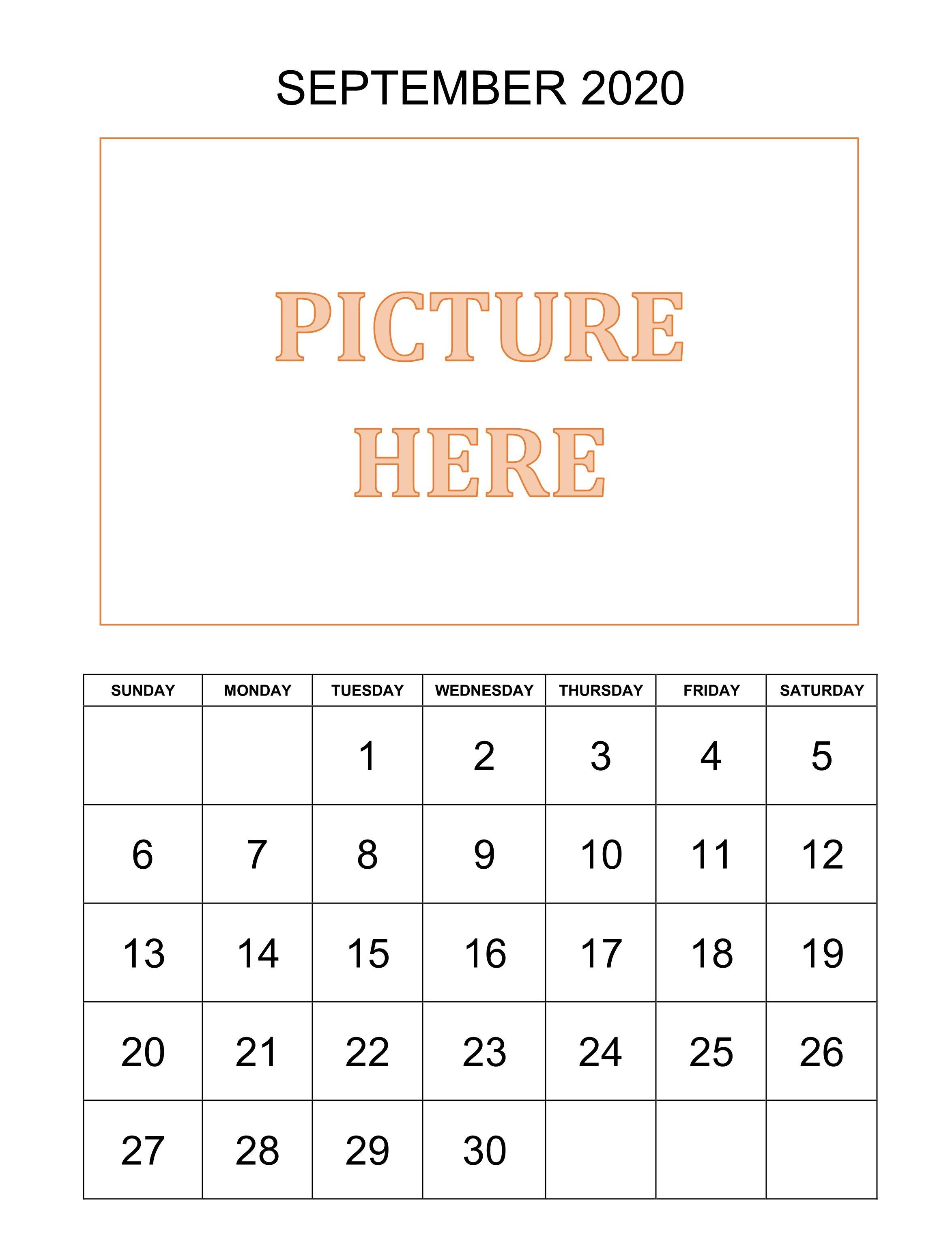 Decorative September Calendar 2020 In 2020 February Calendar Calendar Template Free Printable Calendar Templates