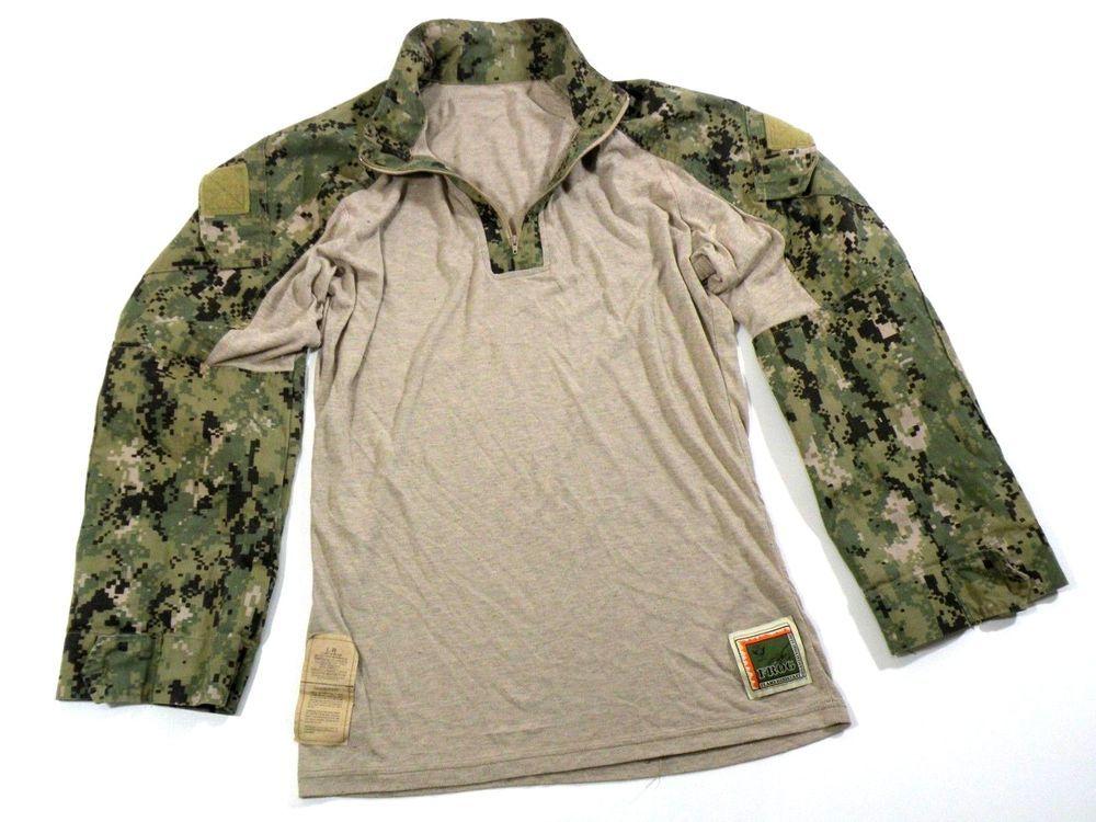 U S Navy Nwu Type Iii Aor2 Frog Combat Shirt Large Regular Combat Shirt Long Sleeve Tshirt Men Navy Nwu