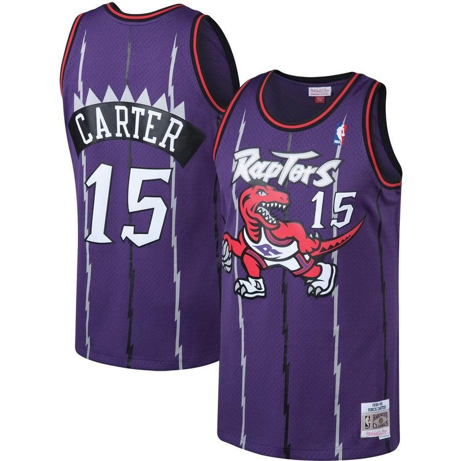 brand new e664d 93d84 Youth Toronto Raptors Vince Carter Mitchell & Ness Purple ...