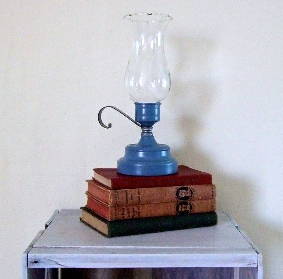 Vintage Brass Upgraded Candle Lamp  Etched Glass by BestLifeEver, $43.00