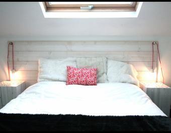 Tête de lit en lambris bois,bricolage décoration,lambris,tête de lit ...