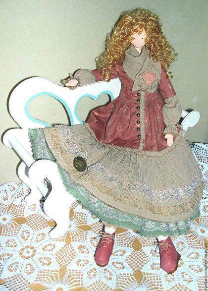 Коллекционные куклы ручной работы. Интерьерная кукла Джейн. Светлана Соловцова. Ярмарка Мастеров. Текстиль, хенд мейд, ботинки, кружево