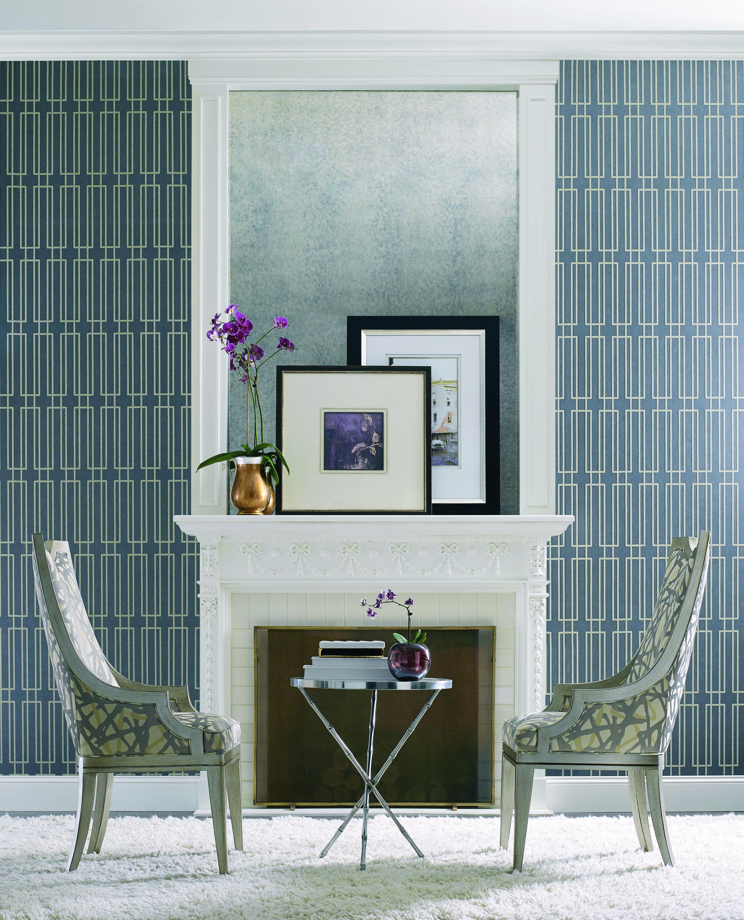 Wallpaper Portodesign Candice Olson Book Modern Artisan Cn 2142 Home Decor Modern Wallpaper Living Room Designs