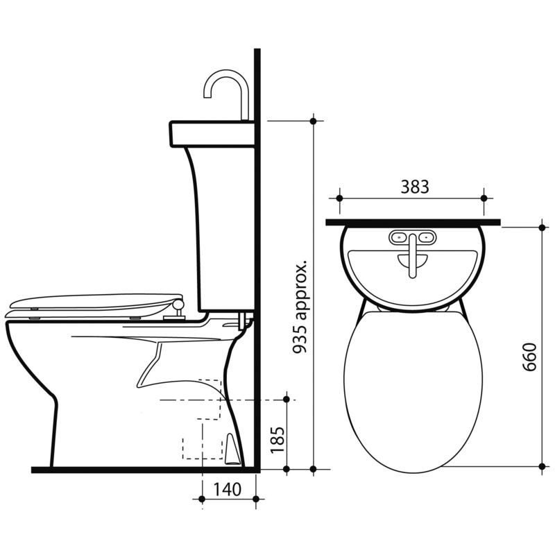 Caroma Wels 5 Star Profile 5 Deluxe S Trap Toilet Suite Bunnings Warehouse Toilet Suites Caroma Heating And Plumbing