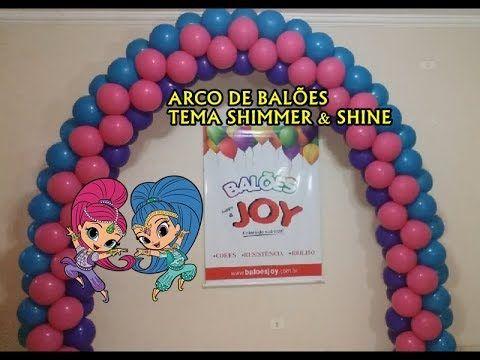 Arco De Baloes Com 3 Cores Para O Tema Shimmer E Shine Bow