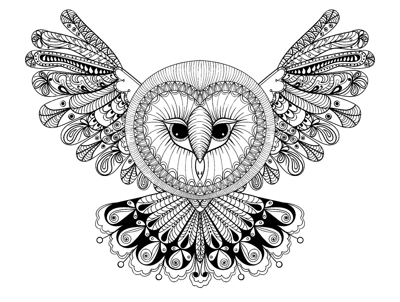 Animal Mandala Coloring Pages Best Coloring Pages For Kids Coloriage Hibou Coloriage Mandala Coloriage Mandala Animaux