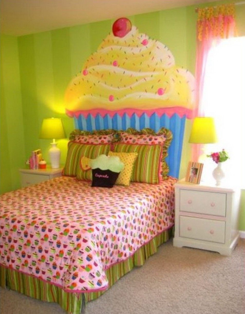 astonishing green girl bedroom ideas with ice cream wall decal and ...