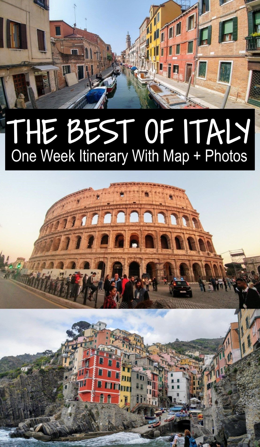Photo of Italy by Train– Detailed 1 Week Itinerary with Map and Photos