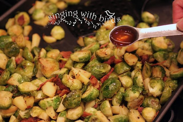 Singing With Birds Roasted Brussels Sprouts and Apples