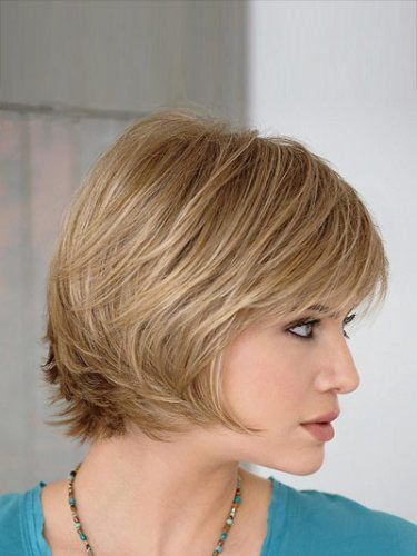 Stylish Blonde Straight Short Bob Wigs