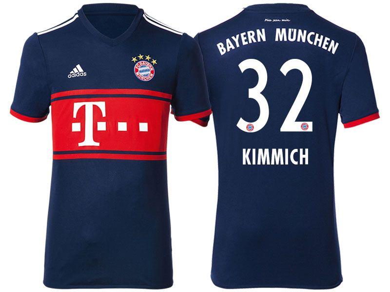 new product ff77b 07f58 Bayern Munich #32 Joshua Kimmich 17-18 Road Short Shirt ...