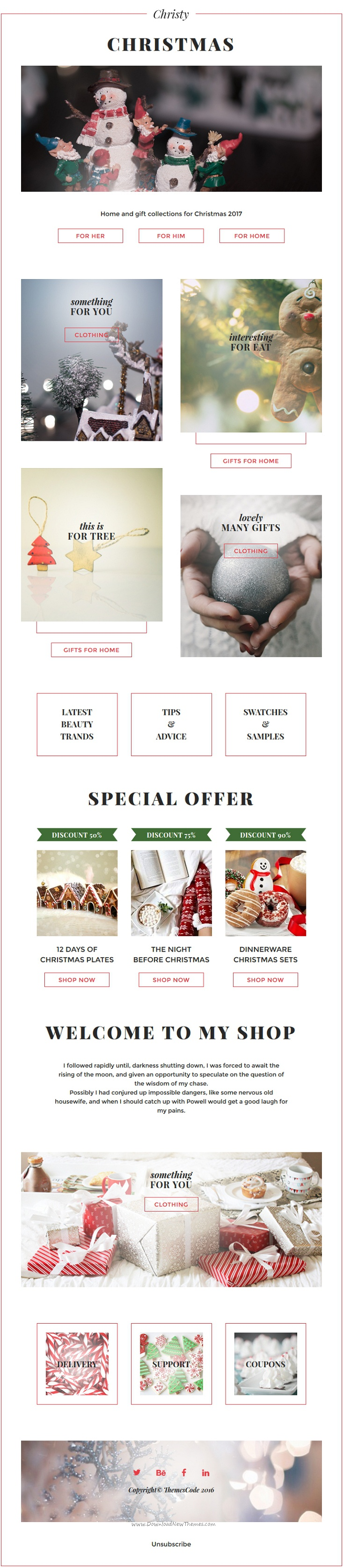 Christy  Christmas Email Templates Set  Stampready Builder