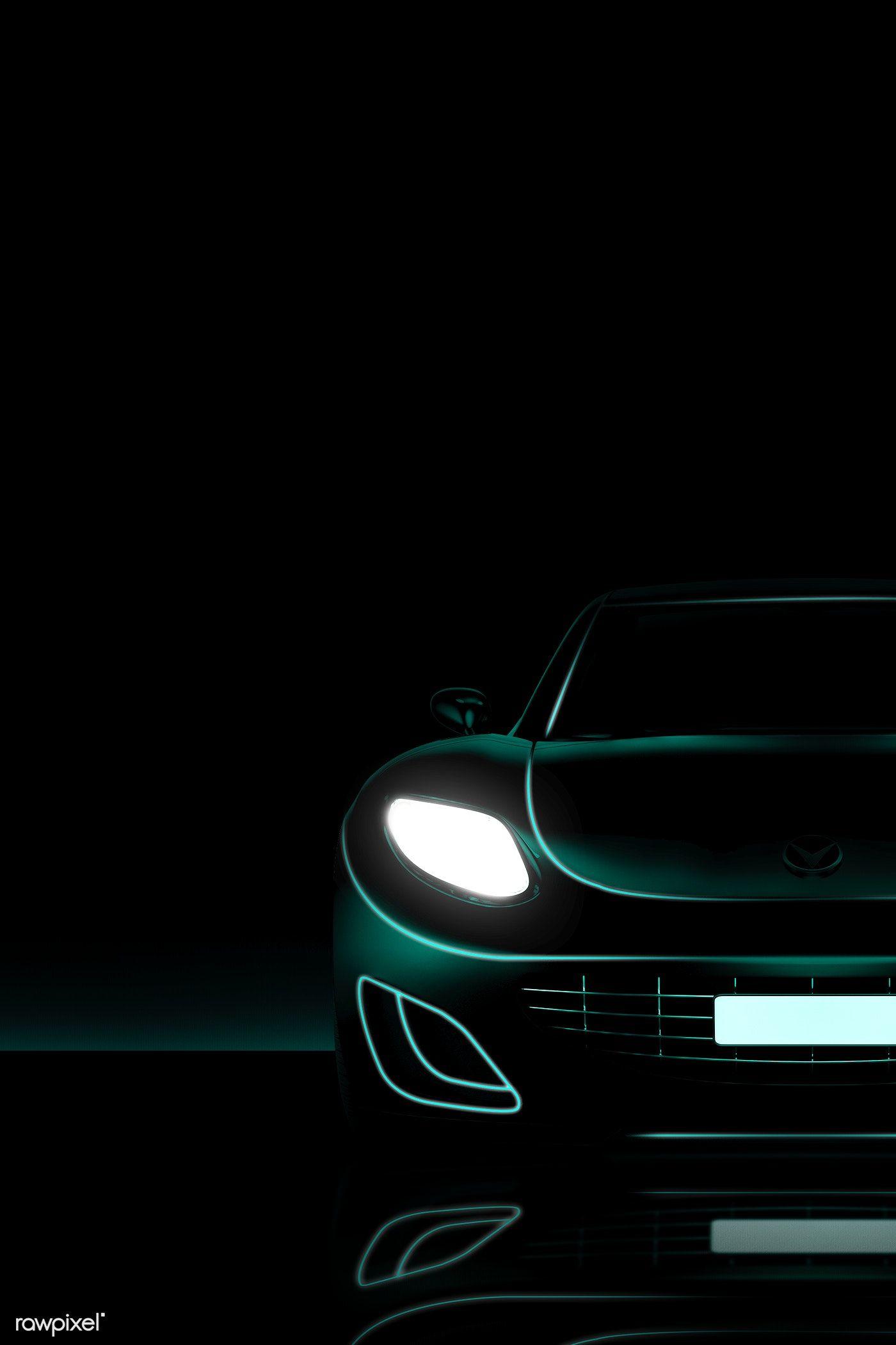 Download Premium Illustration Of Green Neon Sports Car Design 1202418 Hybrid Car Design Sports Car Neon Car