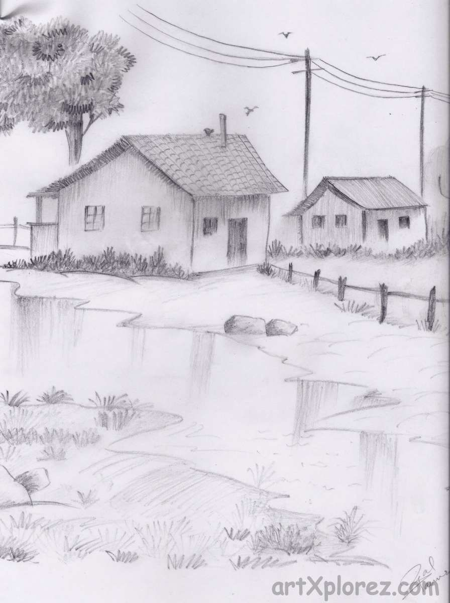 Reflection view pencil shading sketches in 2019 pencil drawings
