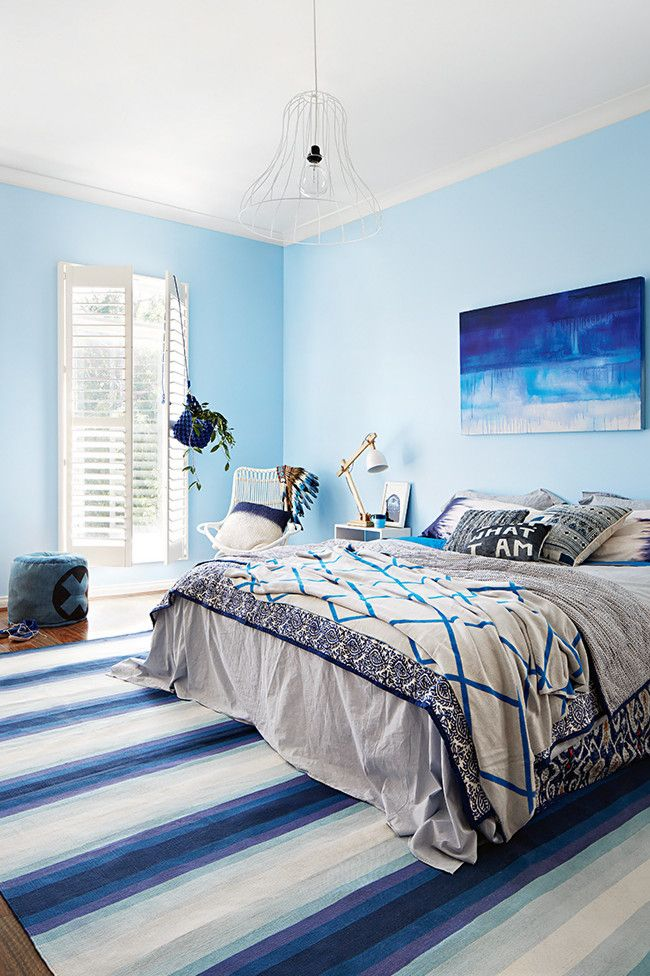 Sky Blue Walls Photo Armelle Habib Styling Julia Green Get This Look Fountain Mist Cil Paint