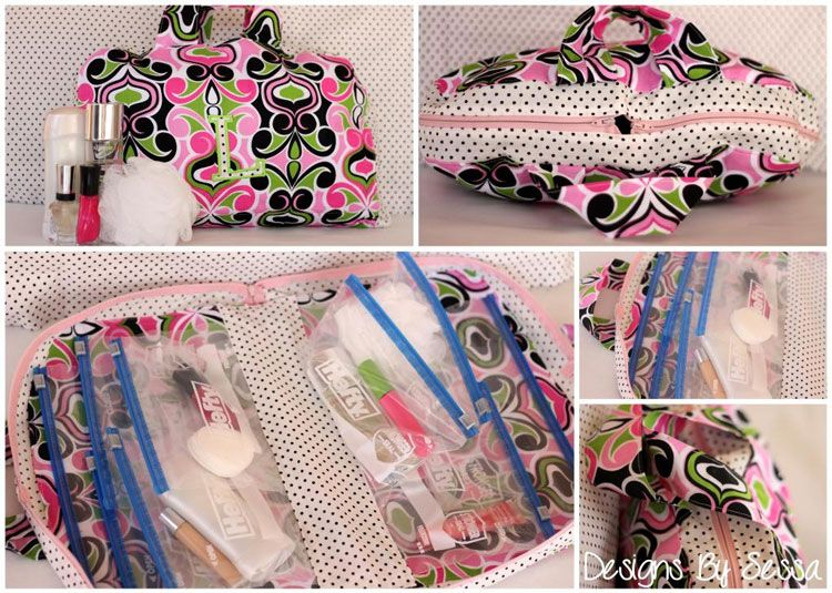 Cosmetic Bag DIY, with Free Pattern Cases, Patterns and