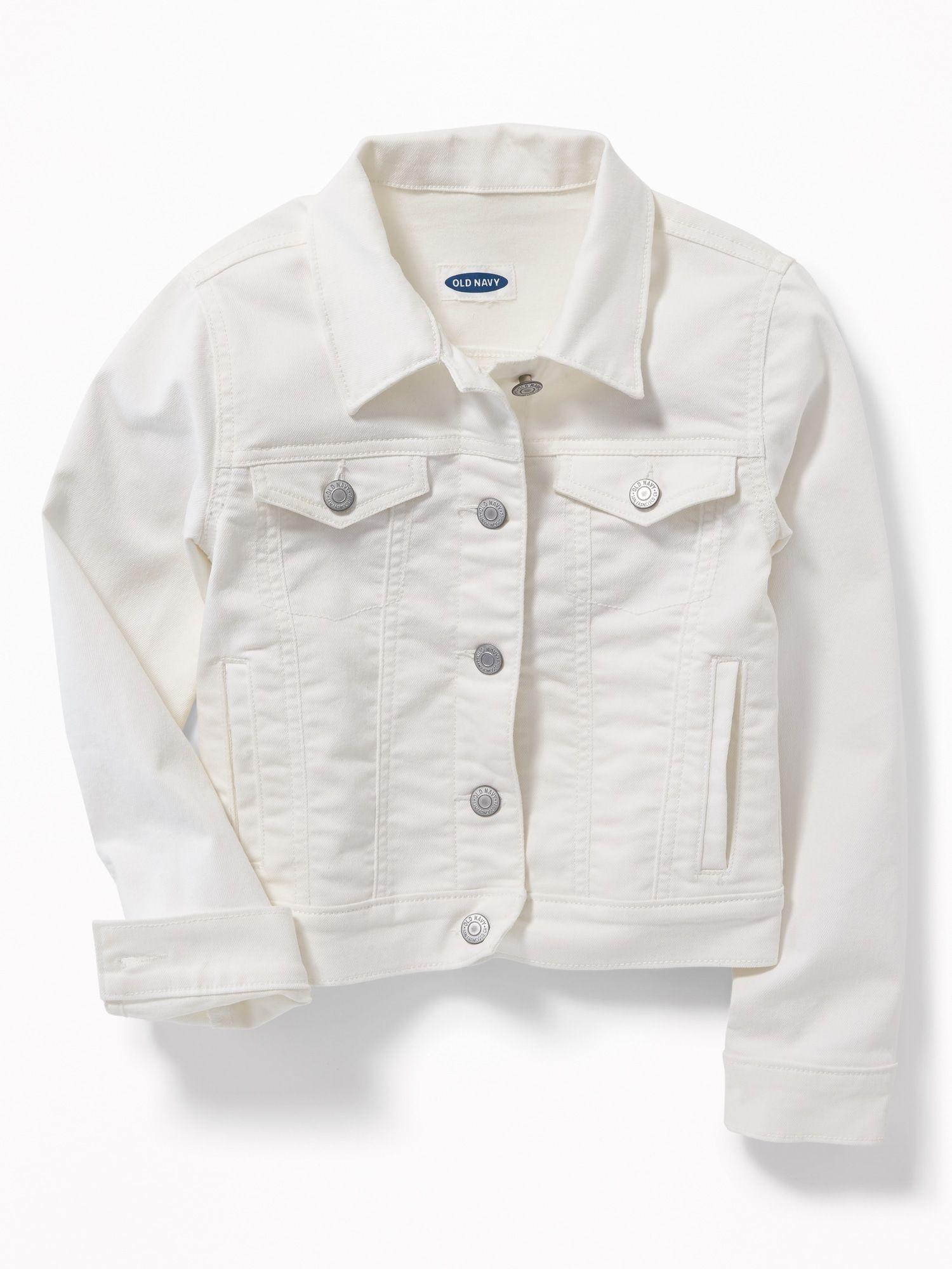 Clean Slate White Denim Jacket For Girls Old Navy White Denim Jacket White Jean Jacket Girls Jacket