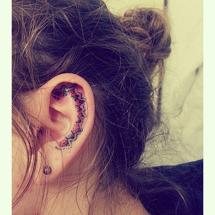 Delicate Inner Ear Tattoos Inner Ear Tattoo Ear Tattoo Behind Ear Tattoos