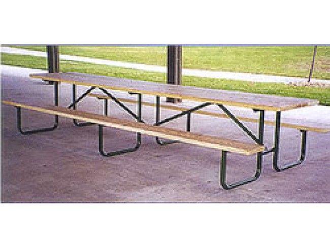 Gerber 11s Steel Shelter Picnic Table Frame 10ft Metal Picnic Tables Painted Metal Frame Picnic Table