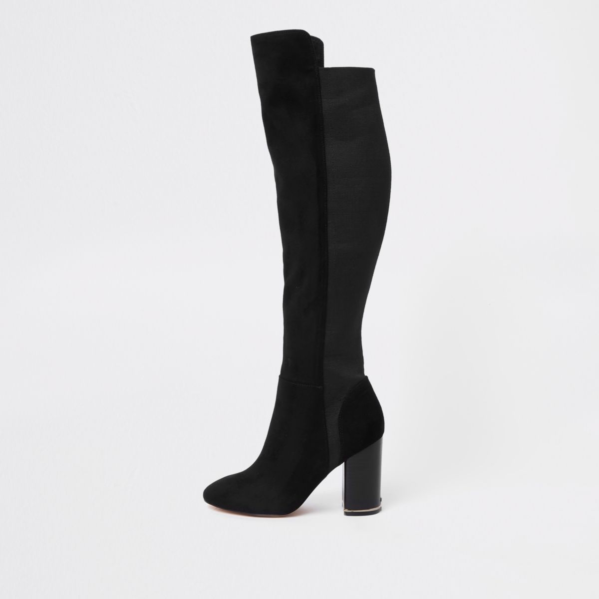 Wide fit knee high boots