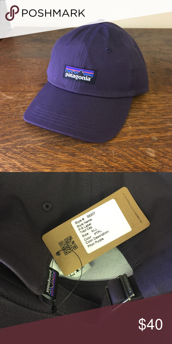 e2a865f4 Patagonia P-6 Label Trad Cap - Piton Purple Product Description: Rock the  classic