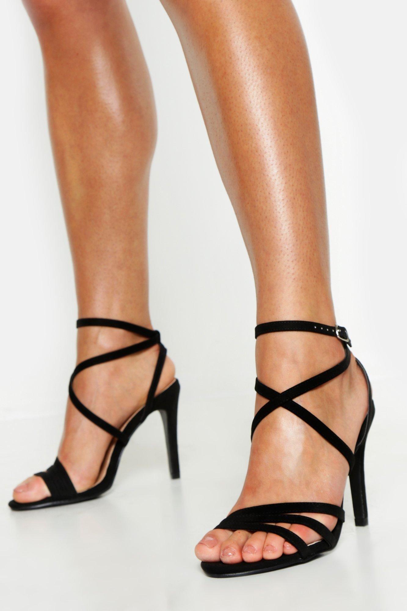 Wide Width Strappy Heel Sandals