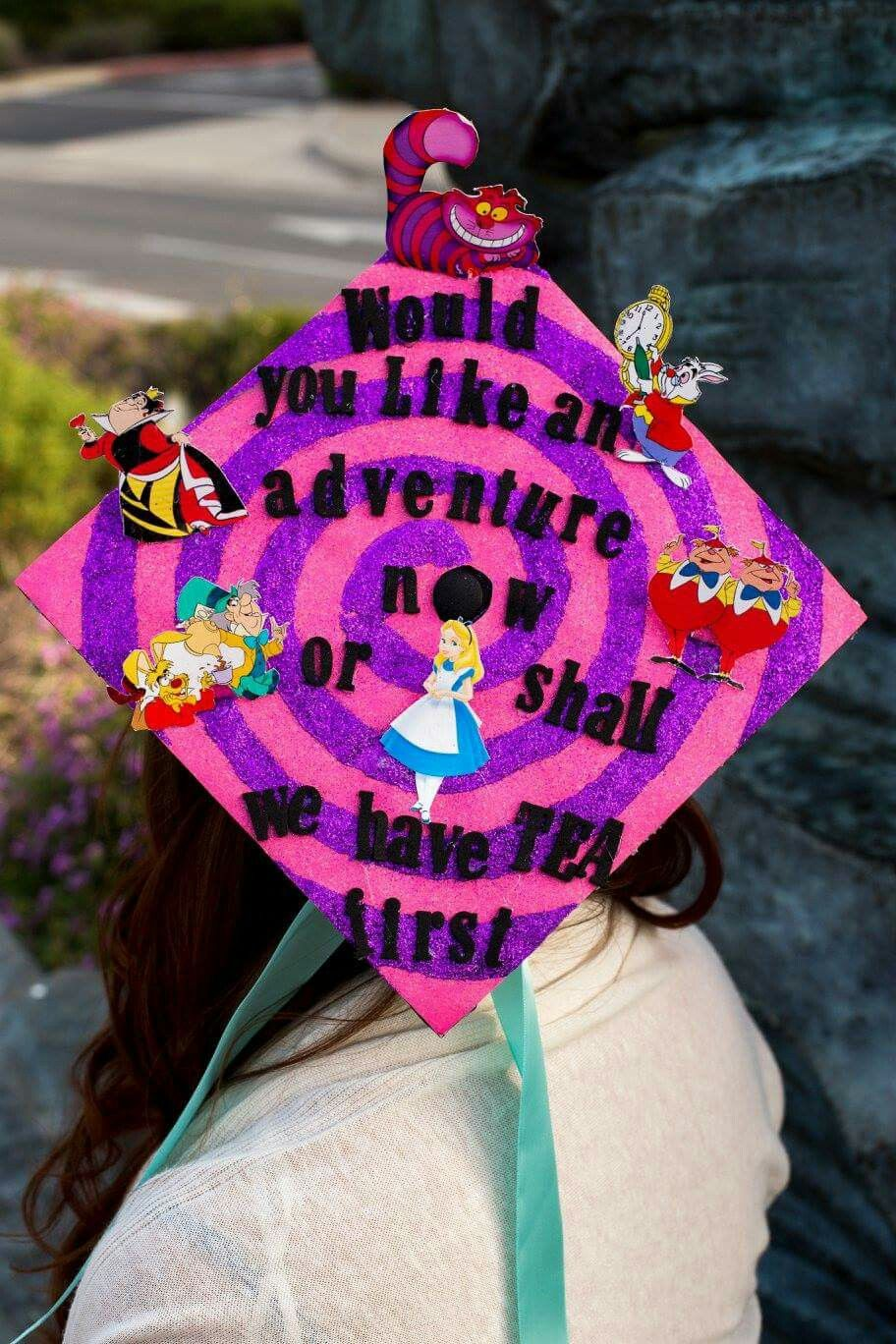 Alice In Wonderland Graduation Cap Graduation Cap Graduation