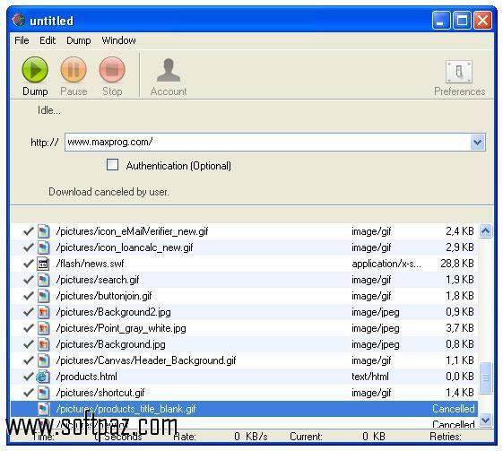 Download Web Dumper setup at breakneck speeds with resume support - spreadsheet software free download for windows 8