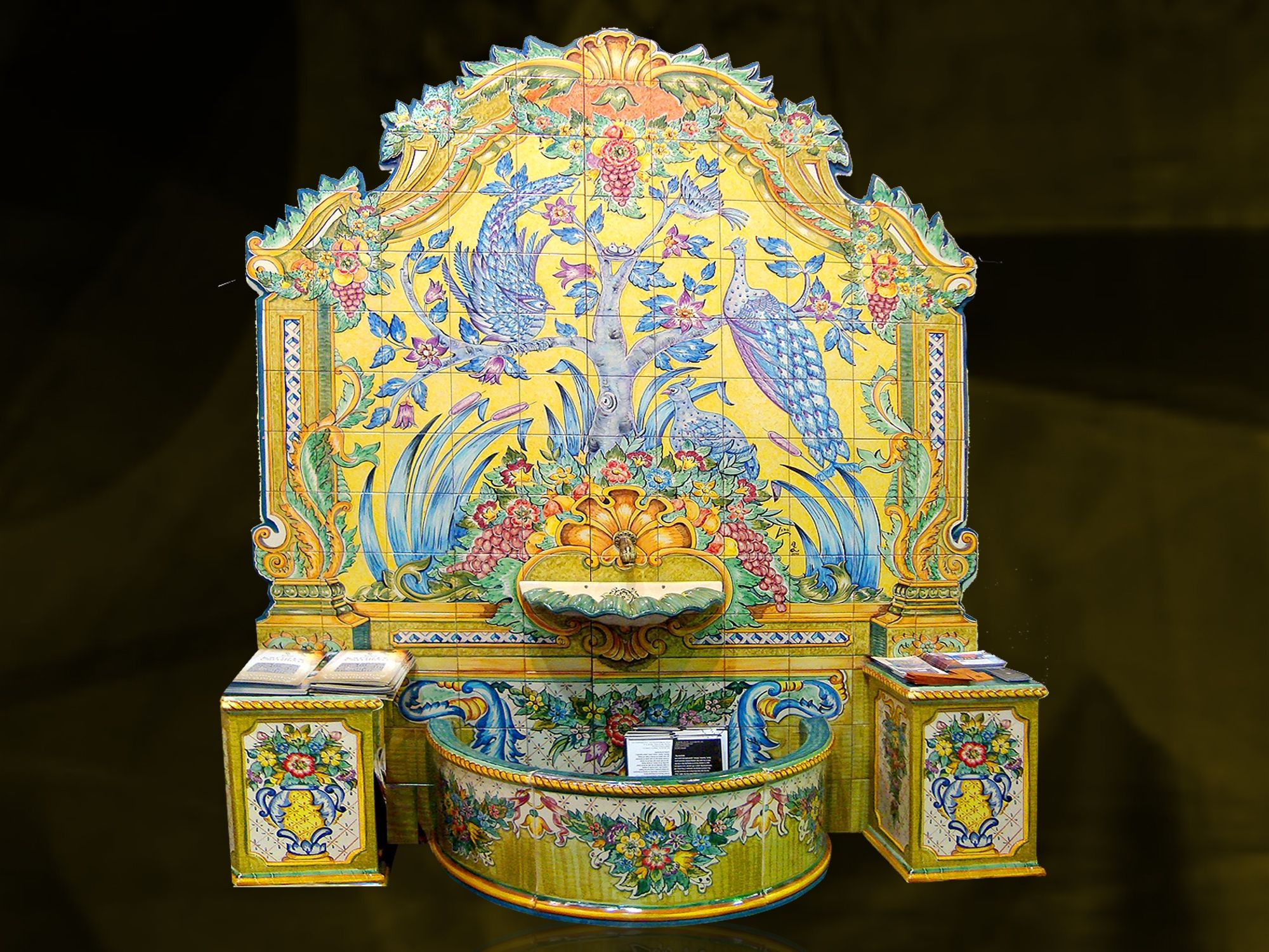 Handpainted Tile Fountain | Fountains | Pinterest | Paintings