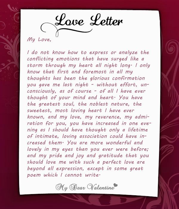 looking at love letters and how they are full of truth, emotions ...