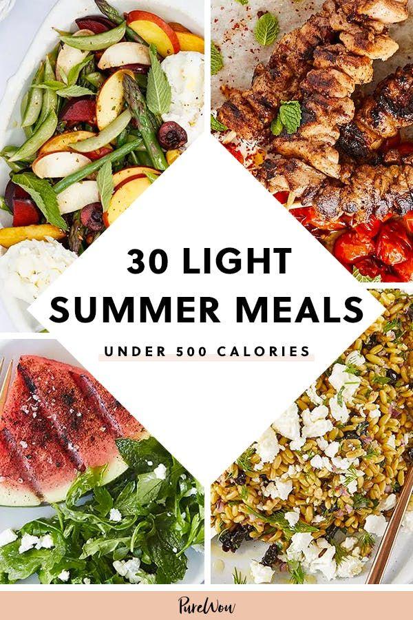 30 Light Summer Meals Under 500 Calories