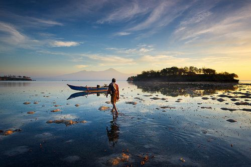 The old fisherman, Lombok by jeromebphotography