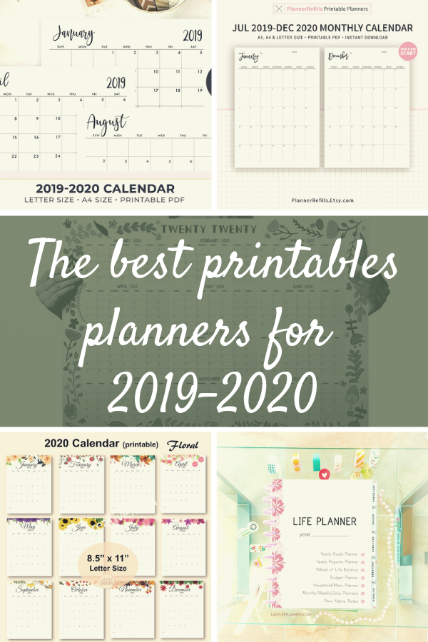 Best Planners And Organizers 2020.Best Printable Planners Of 2020 Organizers Printable